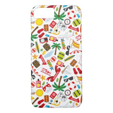 Beach Themed Pattern Summer holiday travel south sea iPhone 7 Case