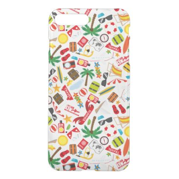Beach Themed Pattern Summer holiday travel south sea iPhone 7 Plus Case