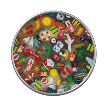 Pattern Summer holiday travel south sea Jelly Belly Candy Tin