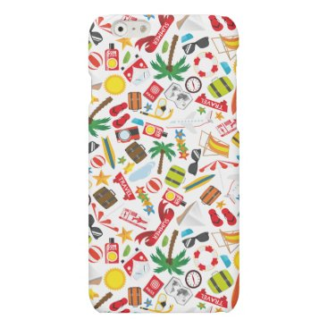 Beach Themed Pattern Summer holiday travel south sea Matte iPhone 6 Case