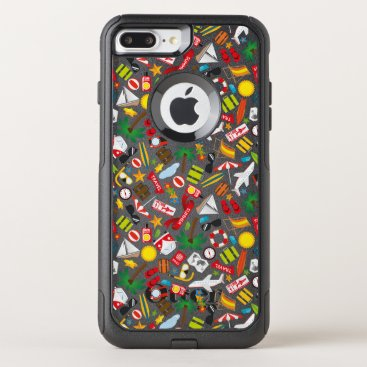 Beach Themed Pattern Summer holiday travel south sea OtterBox Commuter iPhone 7 Plus Case