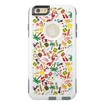 Beach Themed Pattern Summer holiday travel south sea OtterBox iPhone 6/6s Plus Case