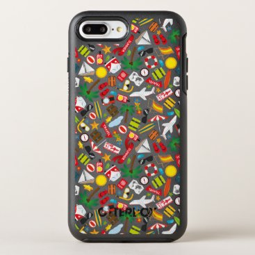 Beach Themed Pattern Summer holiday travel south sea OtterBox Symmetry iPhone 7 Plus Case