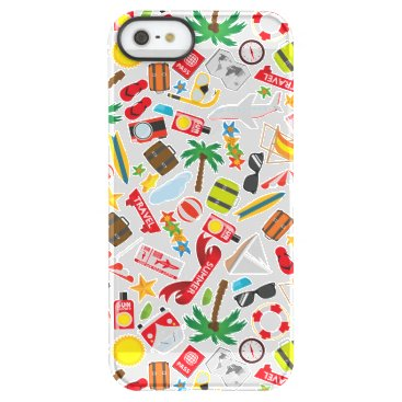 Beach Themed Pattern Summer holiday travel south sea Permafrost iPhone SE/5/5s Case