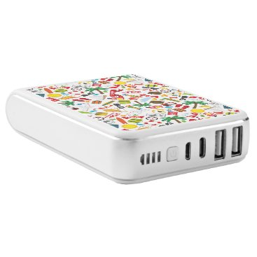 Beach Themed Pattern Summer holiday travel south sea Power Bank