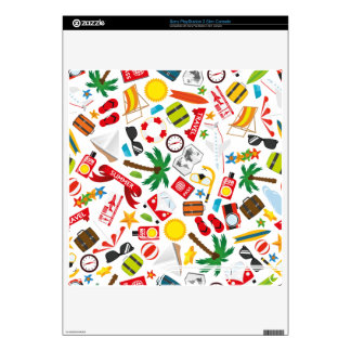 Pattern Summer holiday travel south sea PS3 Slim Console Skin