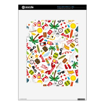 Beach Themed Pattern Summer holiday travel south sea Skin For The iPad 2