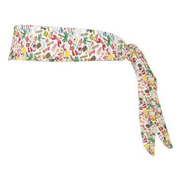 Beach Themed Pattern Summer holiday travel south sea Tie Headband
