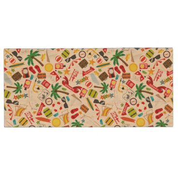 Beach Themed Pattern Summer holiday travel south sea Wood Flash Drive