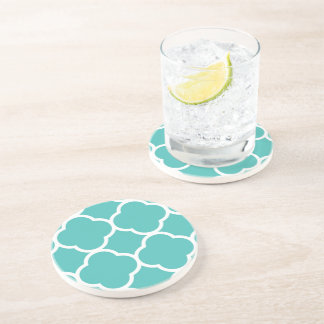 Pattern Teal Drink Coaster