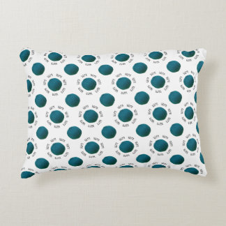 Pattern Teal Yarn Ball & Text Handmade Crafts Decorative Pillow