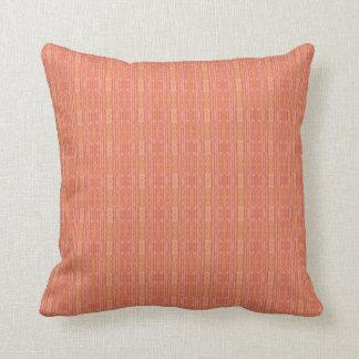 Pattern Throw Pillow in Apricot, Peach, Mango