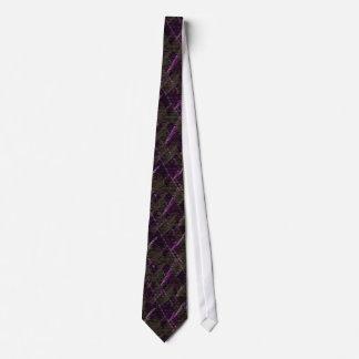 Pattern tie purple black olive-W/lavender white