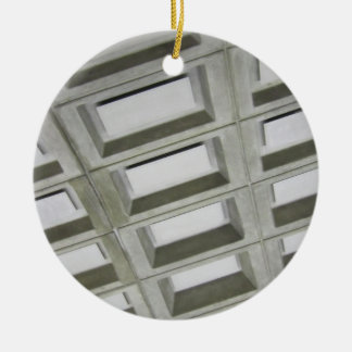 Pattern tile ceiling Double-Sided ceramic round christmas ornament