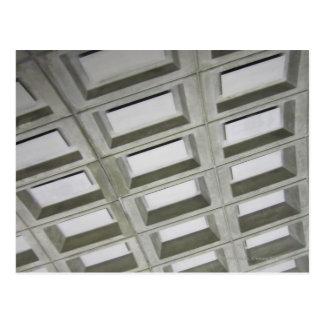 Pattern tile ceiling postcard