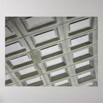 Pattern tile ceiling poster
