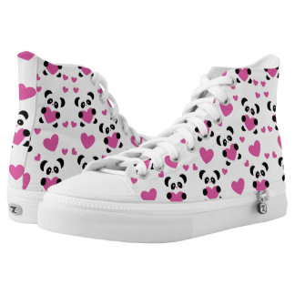 Pattern to the Day of Love High-Top Sneakers