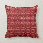 Pattern toned red grey lumber pillow