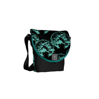 Pattern Turquoise Black Courier Bag