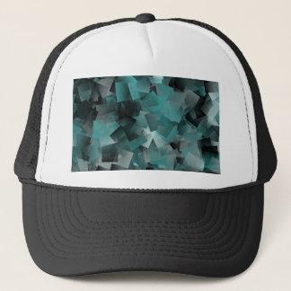 Pattern turquoise no. 3 trucker hat