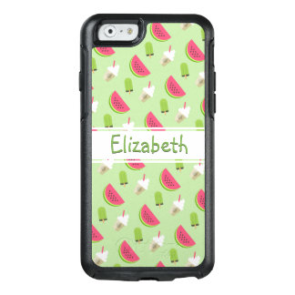 Pattern Watermelon, Pop-sickle, Ice Cream and Name OtterBox iPhone 6/6s Case