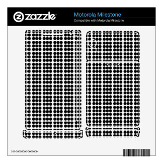 Pattern: White Background with Black Circles Motorola Milestone Skin