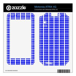 Pattern: White Background with Blue Circles Motorola ATRIX 4G Skin