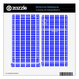 Pattern: White Background with Blue Circles Motorola Milestone Decals