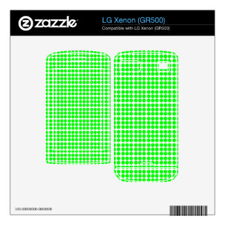 Pattern White Background with Green Circles LG Xenon Decals