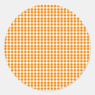 Pattern: White Background with Orange Circles Classic Round Sticker