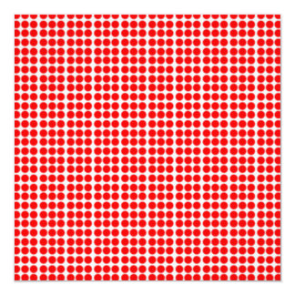 Pattern: White Background with Red Circles Card