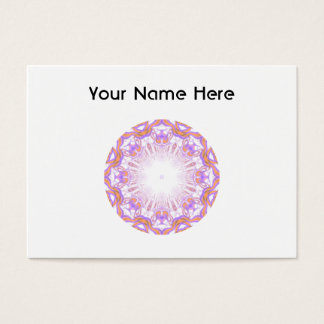 Pattern. White, Orange and Purple. Business Card
