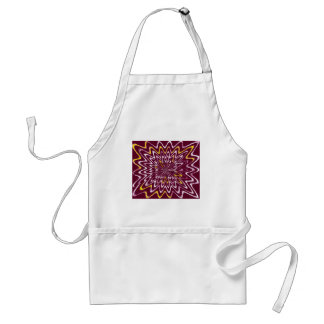 Pattern- Winds & Whirlpool- Maroon , Yellow &White Adult Apron