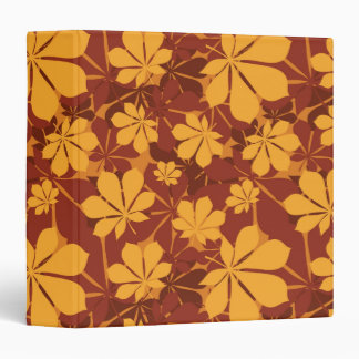 Pattern with autumn chestnut leaves 3 ring binder
