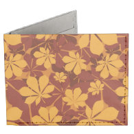 Pattern with autumn chestnut leaves billfold wallet