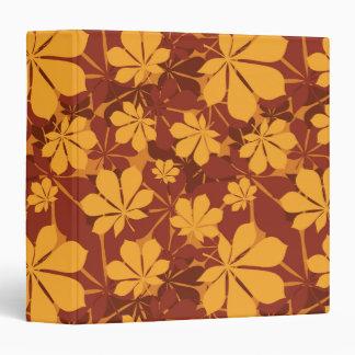 Pattern with autumn chestnut leaves vinyl binder