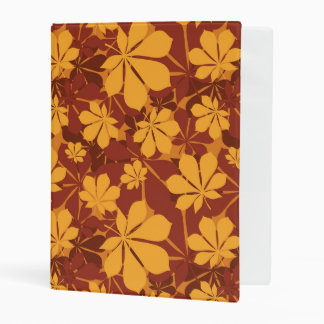 Pattern with autumn chestnut leaves mini binder