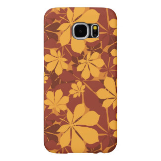 Pattern with autumn chestnut leaves samsung galaxy s6 case