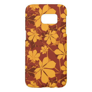 Pattern with autumn chestnut leaves samsung galaxy s7 case