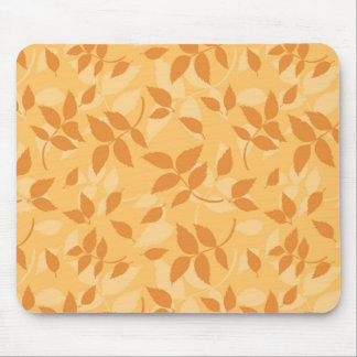 Pattern with autumn leaves mouse pad