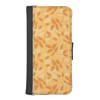 Pattern with autumn leaves phone wallets