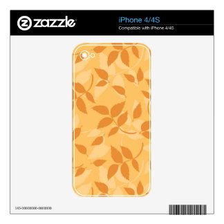 Pattern with autumn leaves skins for iPhone 4S