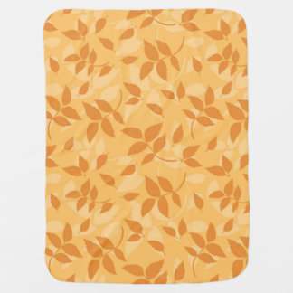 Pattern with autumn leaves receiving blankets