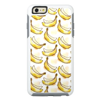 Pattern with banana OtterBox iPhone 6/6s plus case