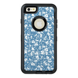 pattern with birds and plants ornament OtterBox defender iPhone case
