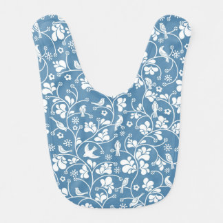 pattern with birds and plants ornament baby bibs