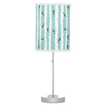 Pattern with birds and trees desk lamp