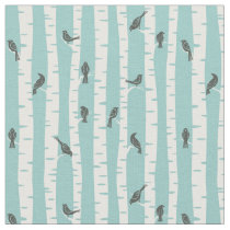 Pattern with birds and trees fabric