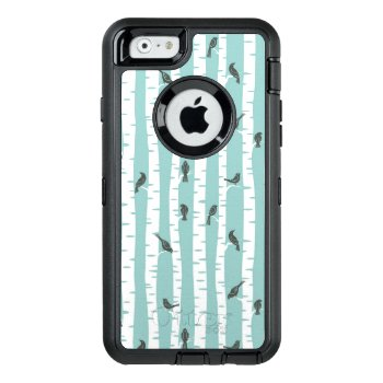 Pattern With Birds And Trees Otterbox Defender Iphone Case by boutiquey at Zazzle