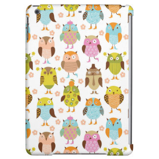 pattern with birds iPad air covers